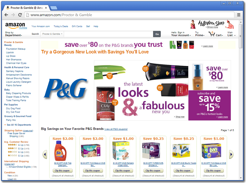 Proctor & Gamble on Amazon.com
