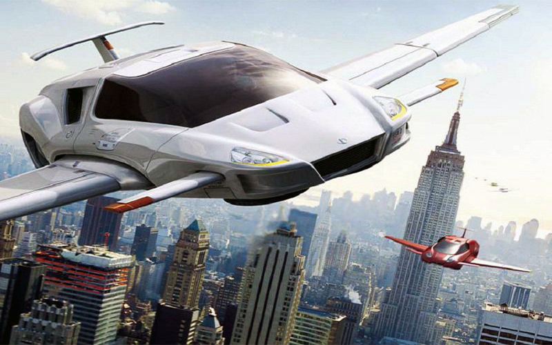 moving people around cities via drones and flying cars
