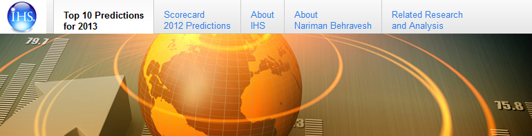 IHS Top 10 Economic Predictions for 2013