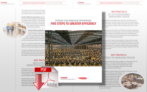 Download Five Steps to Increasing Your Warehouse Performance and Efficiency