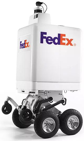 Meet the FedEx SameDay Bot™. The future is knocking.