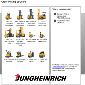 Jungheinrich Order Pickers For Warehouse Applications Supply