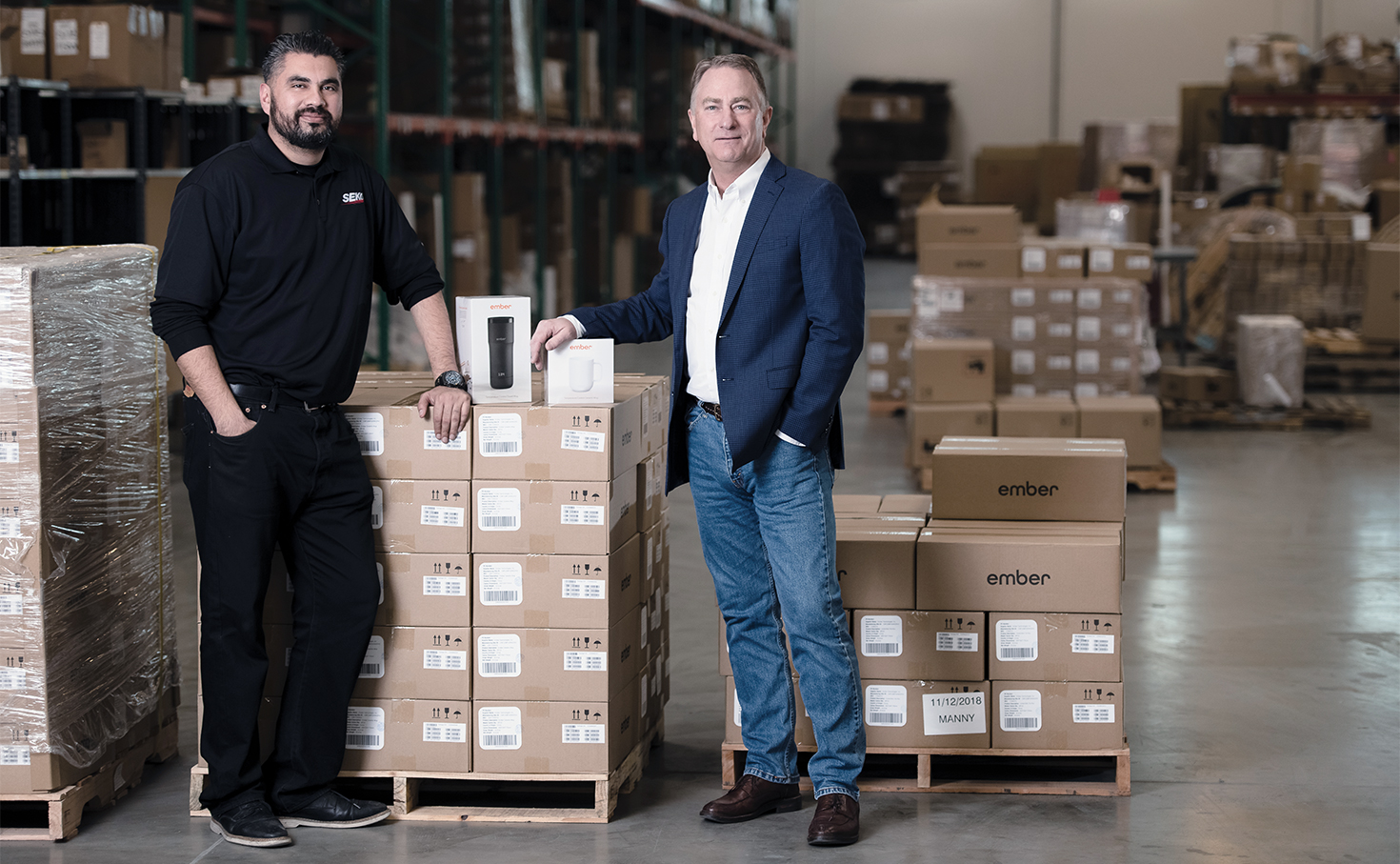Miguel Garcia, Operations Manager, SEKO Logistics and Phil Poel, COO, Ember Technologies, Inc.