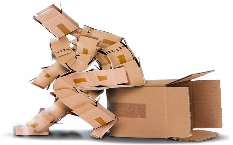 history of cardboard boxes when were cardboard boxes invented