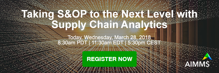 Taking S&OP to the next level with supply chain analytics