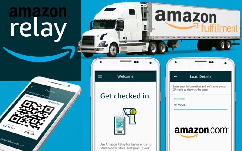 Amazon Relay App Will Help Truck Drivers Get In and Out of