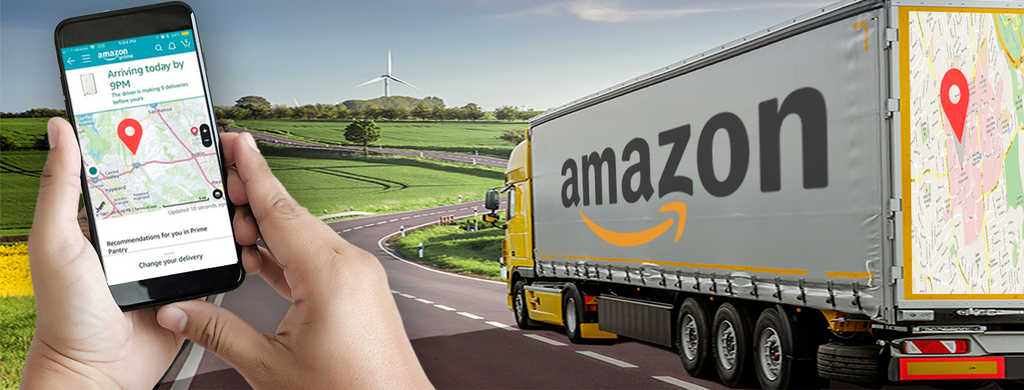 Amazon's Real-Time Map Tracking Package Delivery App