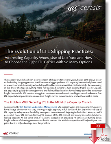 Download The Evolution of LTL Shipping Best Practices