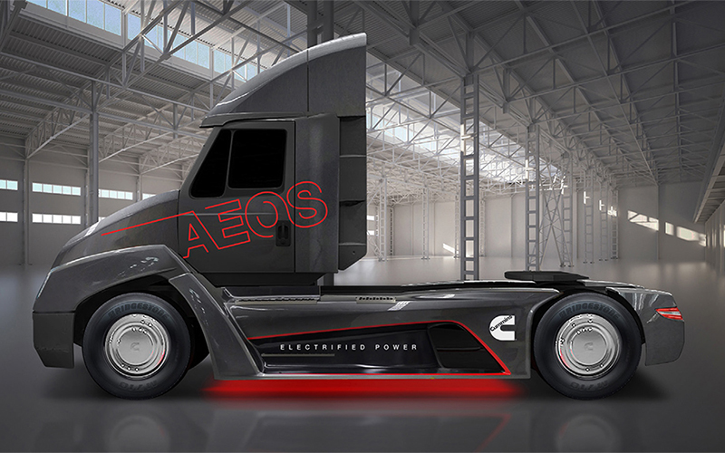 Cummins Taking on Tesla with Electric Semi Truck