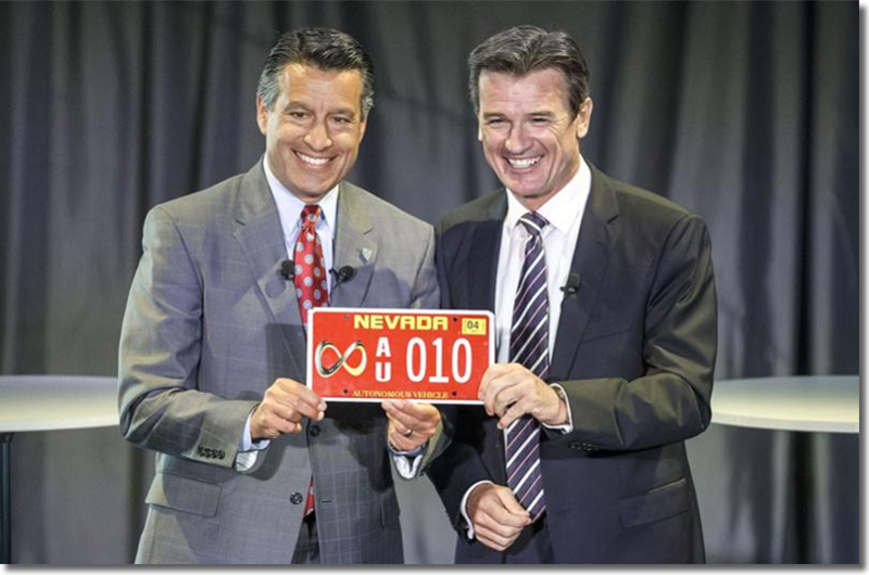Brian Sandoval, Governor of Nevada, and Dr. Wolfgang Bernhard, member of the Daimler AG board