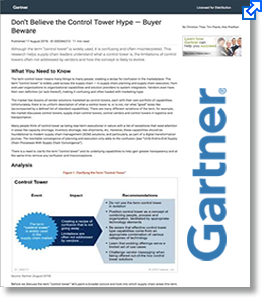 Access Gartner research to understand control tower capabilities.