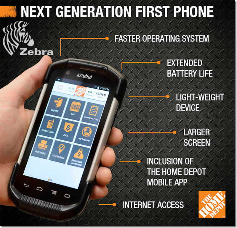 Home Depot's Custom Smartphone Does Inventory & Mobile Point of Sale