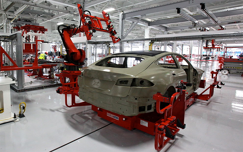 Tesla factory images