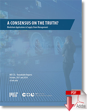 Download A Consensus On The Truth? Blockchain Applications in Supply Chain Management