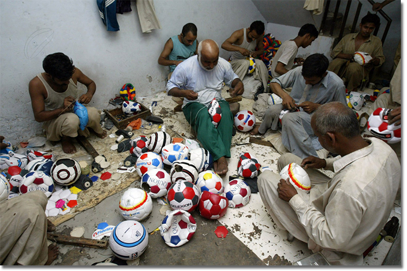 Where does that soccer ball come from? Probably right here in Sialkot
