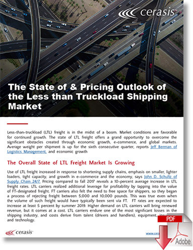 Download The State of & Pricing Outlook of the Less than Truckload Shipping Market