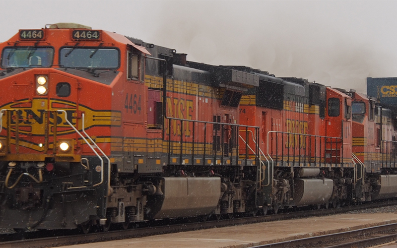Two BNSF Freight Trains Collide, National Transportation