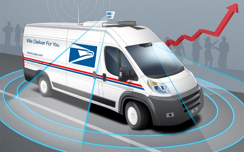 Mercedes Benz Vans >> U.S. Postal Service Announces New Prices for 2018 - Looking at Autonomous Mail Trucks by 2025 ...