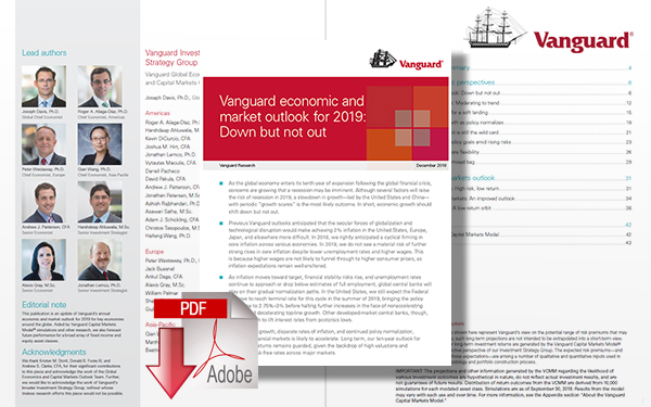 Download Vanguard Economic and Market Outlook for 2019: Down but Not Out