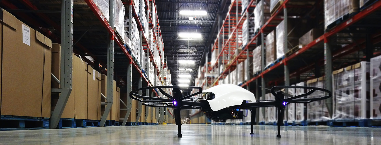 Warehouse Drones Ready for Digital Inventory Management - Supply
