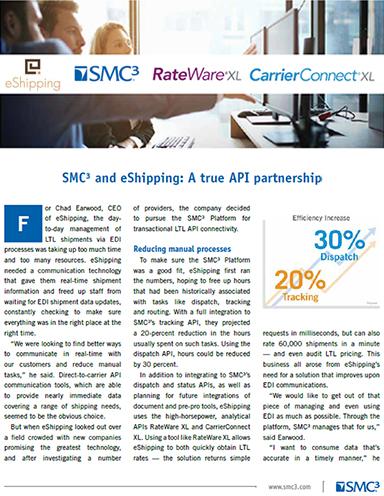 Why eShipping Selected the SMC³ Platform for Transactional LTL API