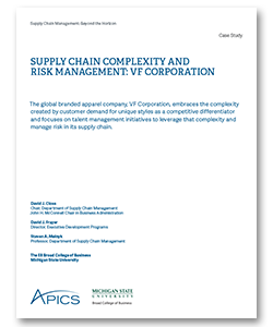 vf brands global supply chain strategy case analysis