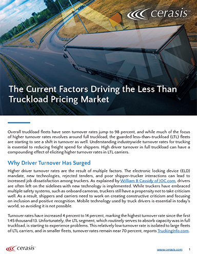 Current Factors Driving the Less Than Truckload Pricing