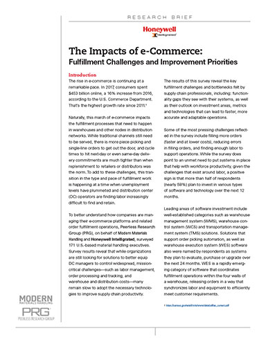 The Impacts of e-Commerce: Fulfillment Challenges and Improvement