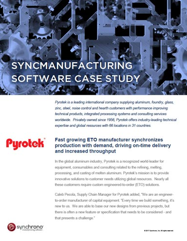 Increasing Manufacturing Capacity with SyncManufacturing