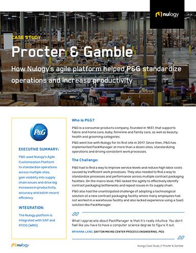 p&g supply chain case study