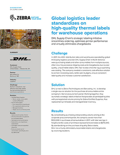DHL Supply Chain Streamlines Warehouse Operations with High-Quality